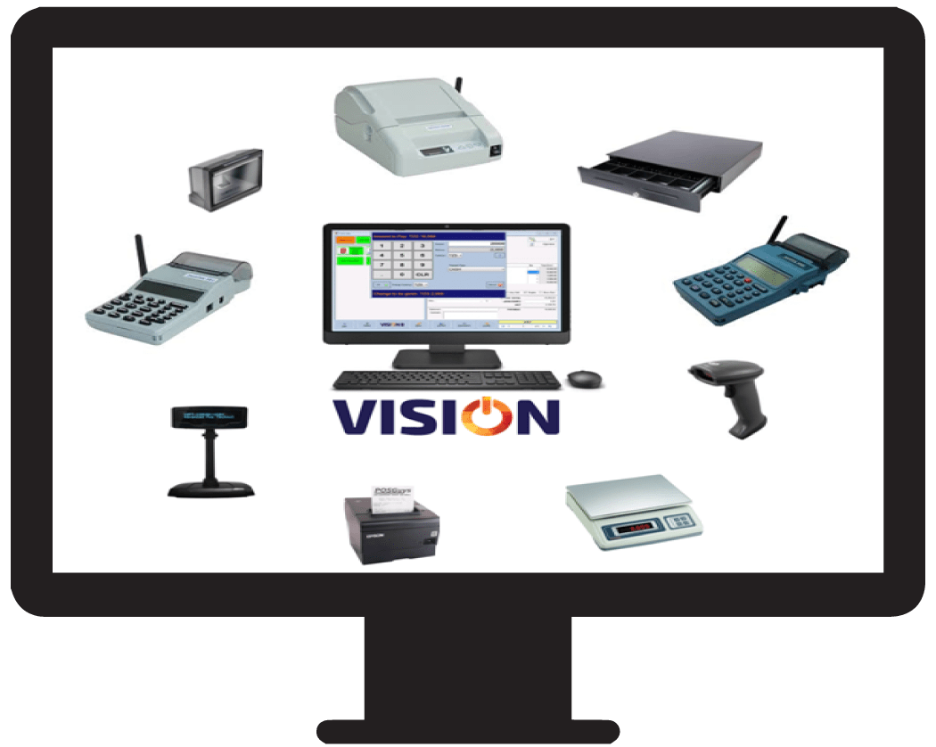 Touch POS screen using the Vision POS software in Tanzania