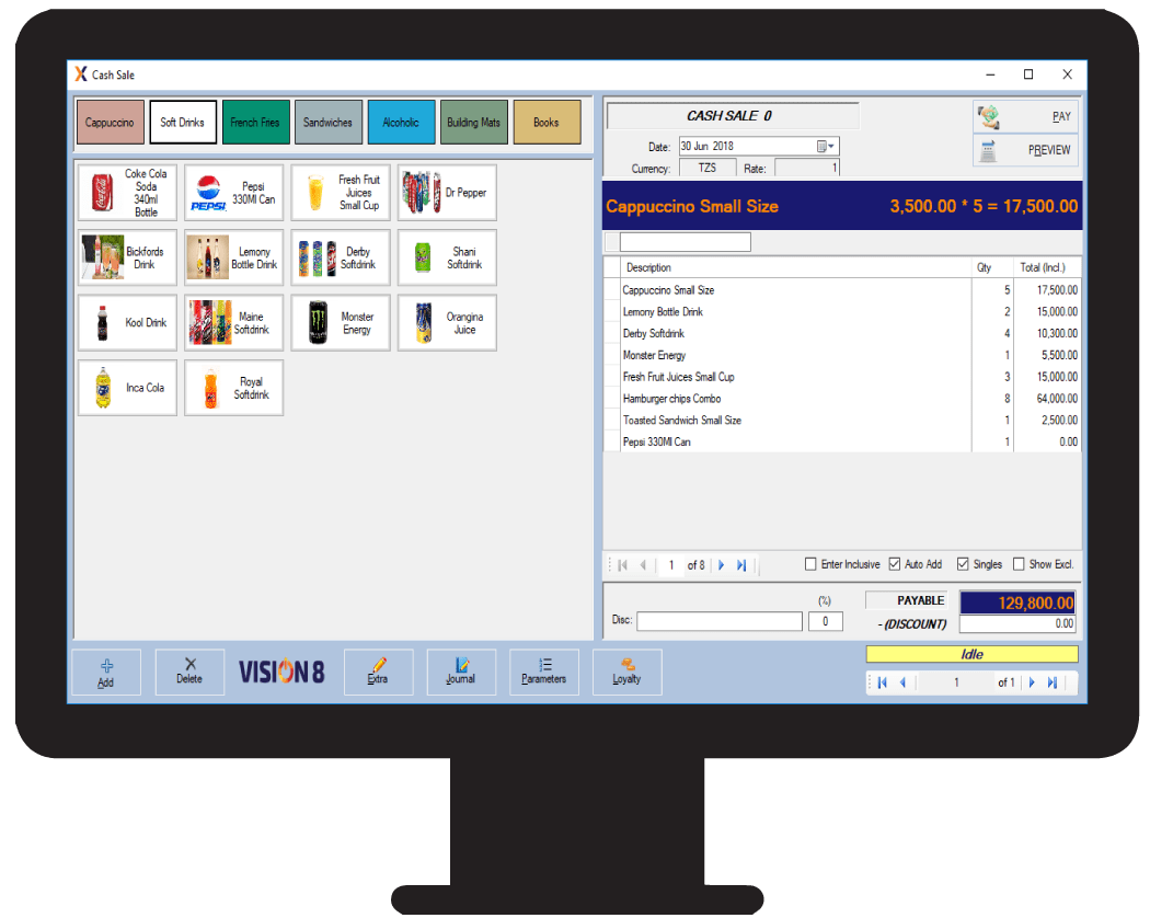 Multiple selling price feature using the Vision POS software in Tanzania